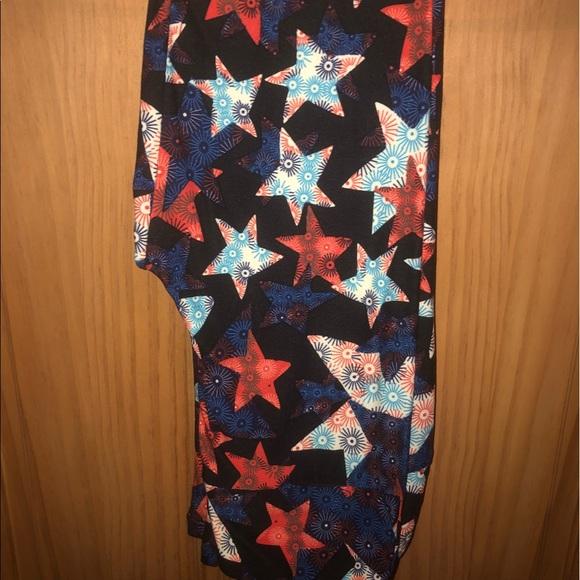 6572ce257dc128 LuLaRoe Pants | Nwt Os Llr Stars American Dreams Leggings | Poshmark